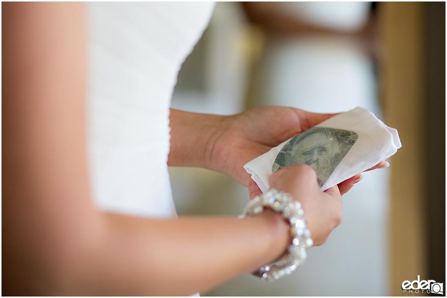 Bride's photo napkin