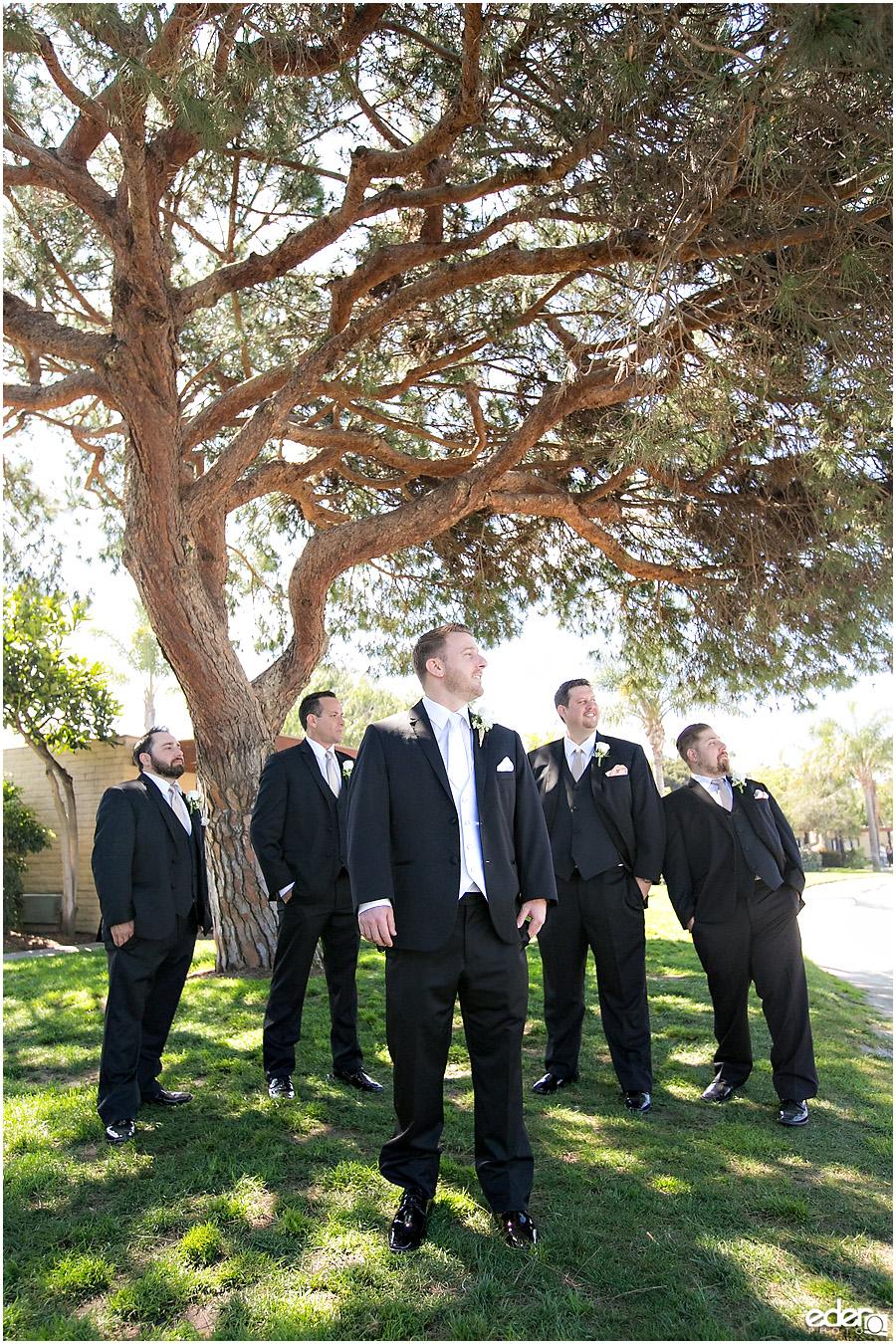 Paradise point groomsmen photo