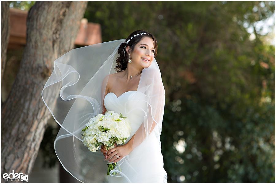 Bridal portraits at Paradise Point Resort