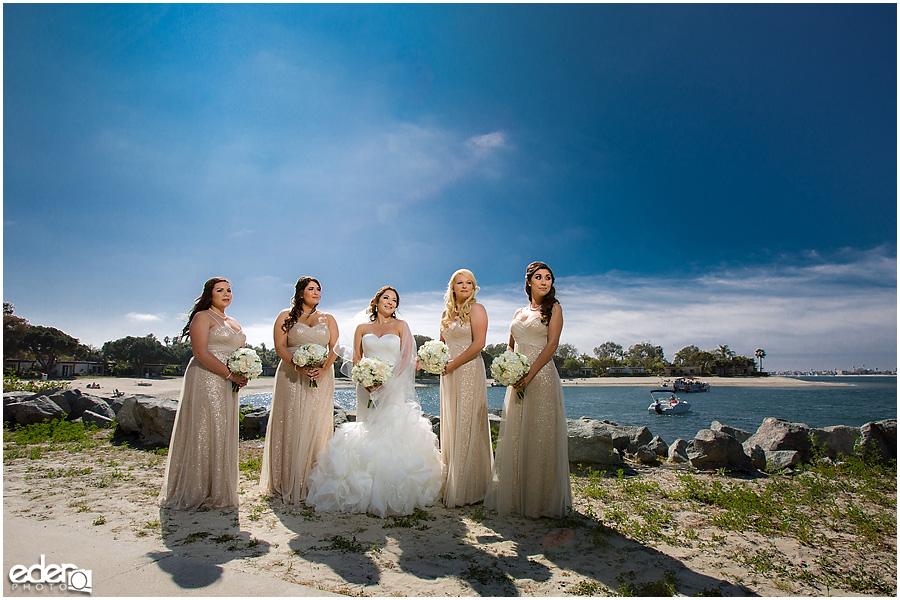 Bridesmaid portraits at Paradise Point Resort