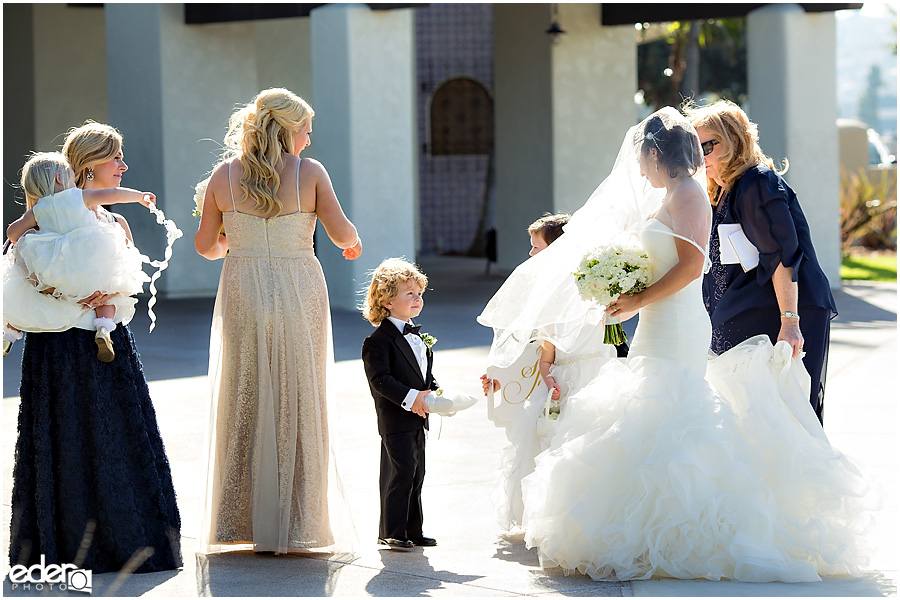 Wedding ceremony at Tom Ham's Lighthouse