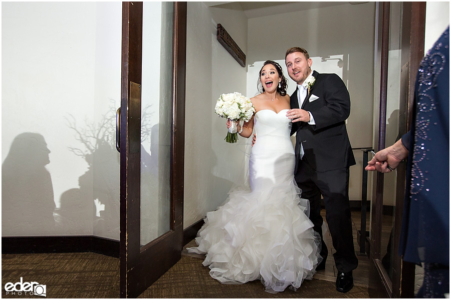 Grand entrance for Tom Ham's Lighthouse Wedding Photography