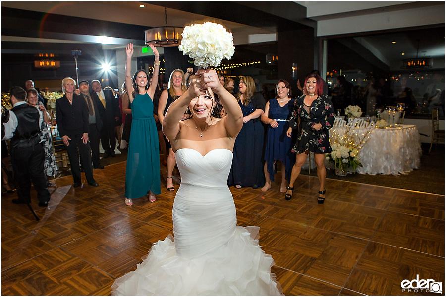 Bouquet toss for Tom Ham's Lighthouse Wedding Photography