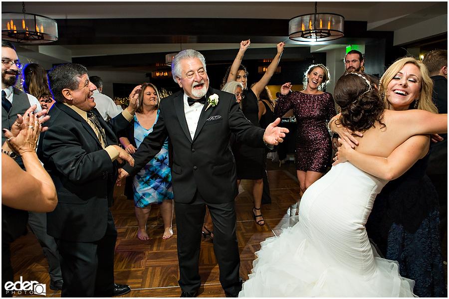 Dancing during wedding reception