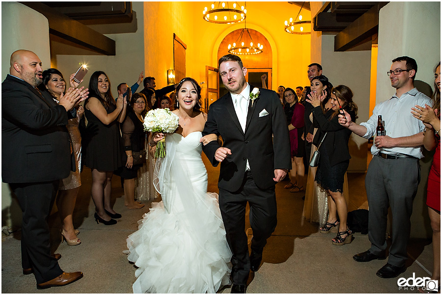Grand exit during Tom Ham's Lighthouse Wedding