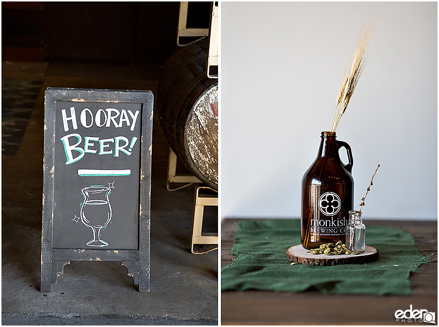Beer Wedding Decor