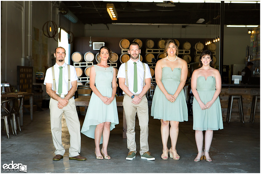 Brewery Wedding Portraits wedding party