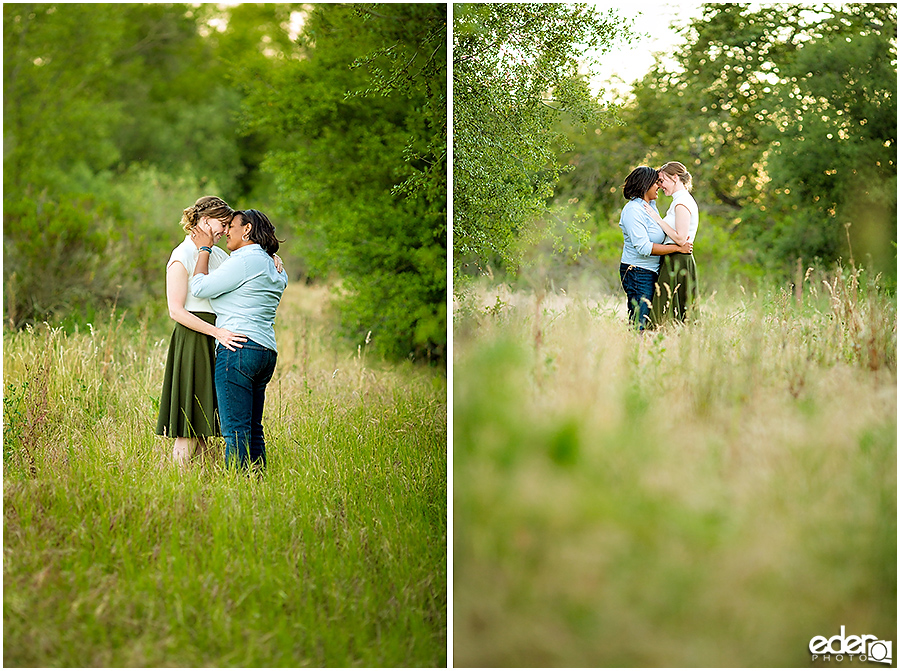 Rustic same sex engagement session