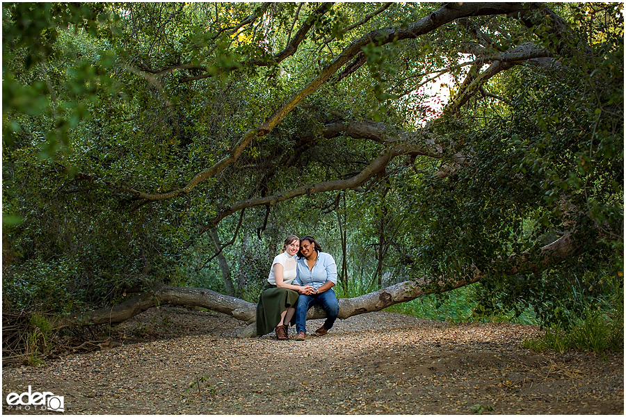 Green engagement session photos