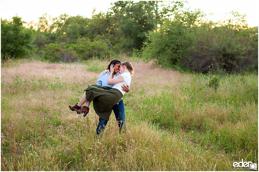 Rustic engagement session in San Diego