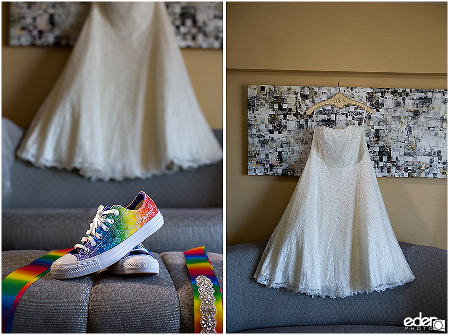 Rainbow Chucks for wedding