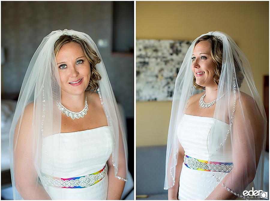 Bride getting ready portraits