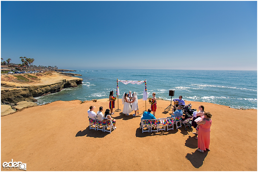 Sunset cliffs wedding in San Diego, CA