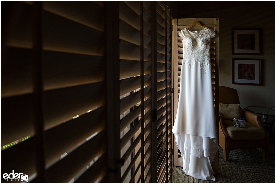 Rancho Bernardo Wedding Prep Photos - wedding dress
