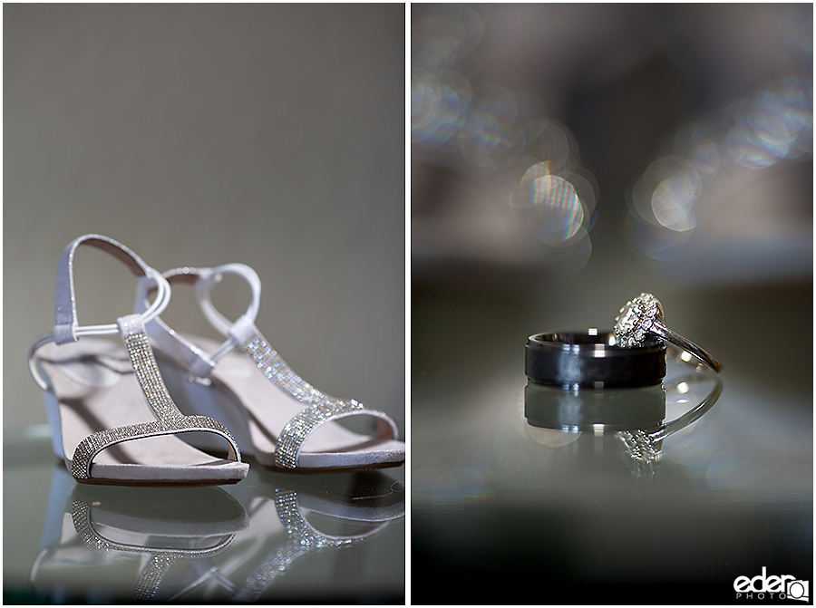 Wedding Prep Photos - shoes and rings
