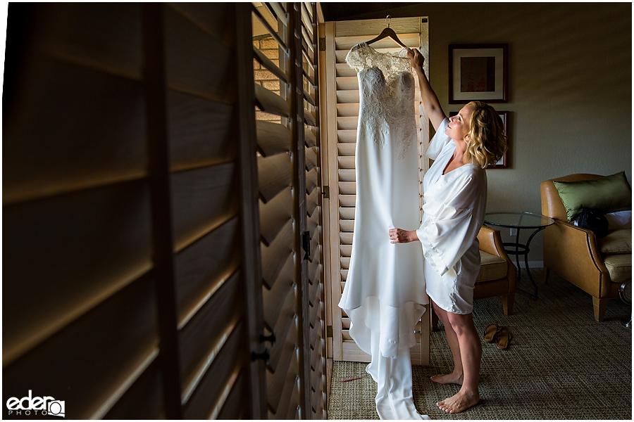 Rancho Bernardo Wedding Prep Photos - bride and dress