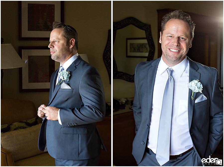 Rancho Bernardo Wedding Prep Photos - groom portraits