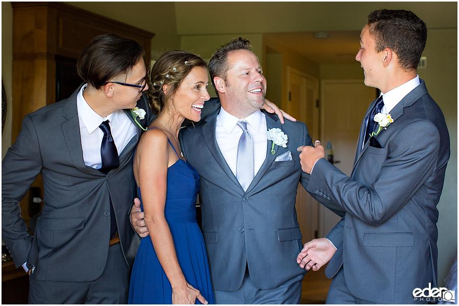 Rancho Bernardo Wedding Prep Photos - groom