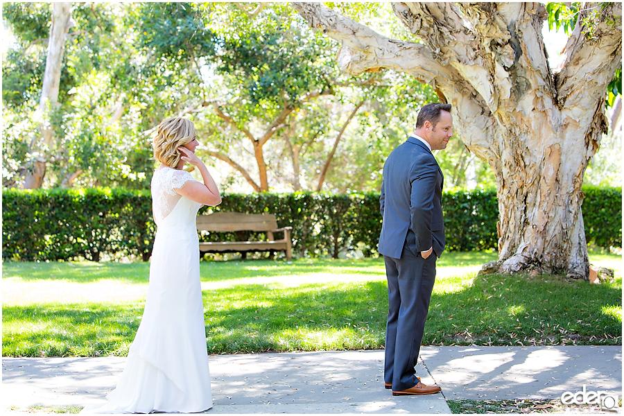 Rancho Bernardo Wedding First Look Photos
