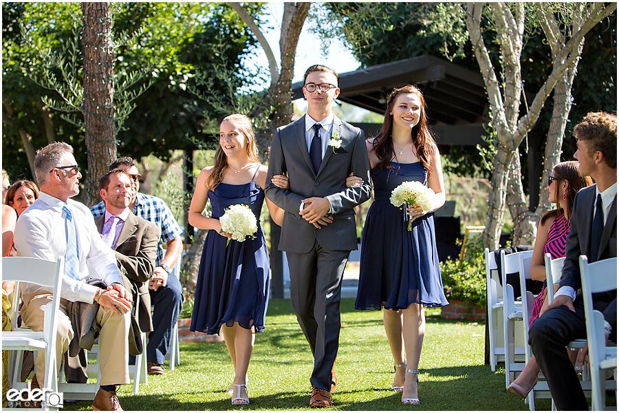 Rancho Bernardo Winery Wedding Wedding Ceremony wedding party