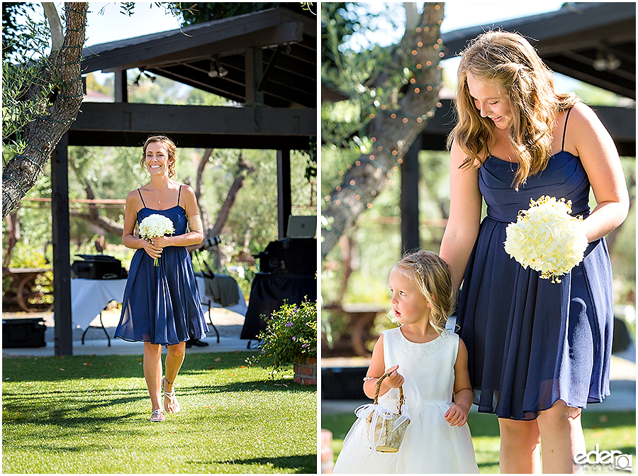 Rancho Bernardo Winery Wedding Wedding Ceremony flower girl