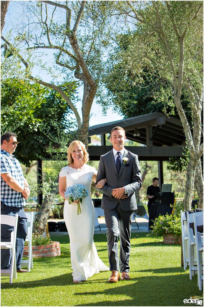 Rancho Bernardo Winery Wedding Wedding Ceremony bride