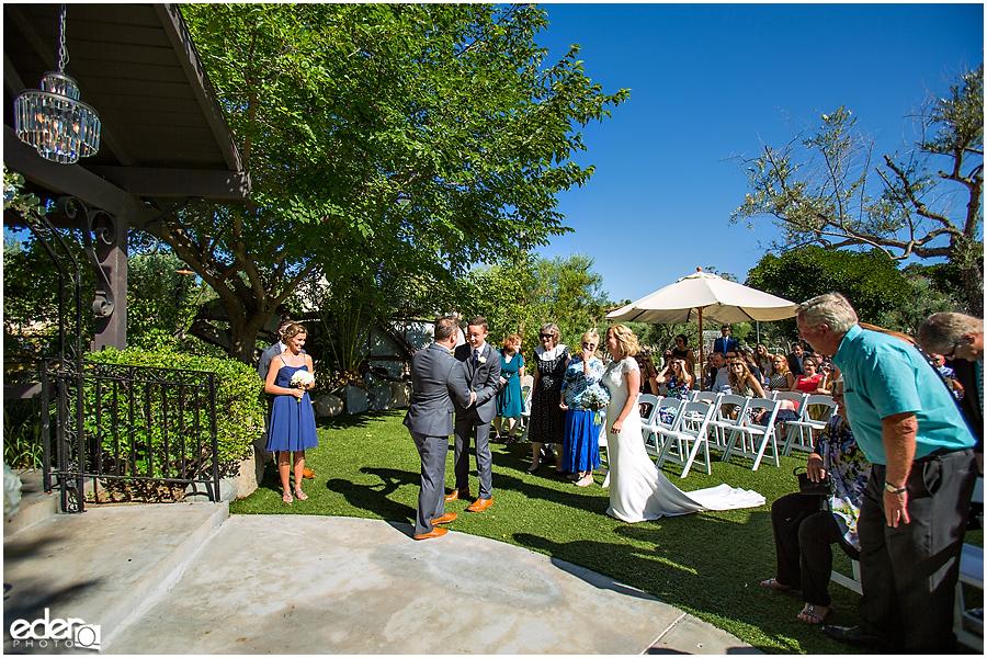 Rancho Bernardo Winery Wedding Wedding Ceremony processional