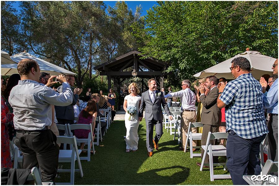 Rancho Bernardo Winery Wedding Wedding Ceremony recessional