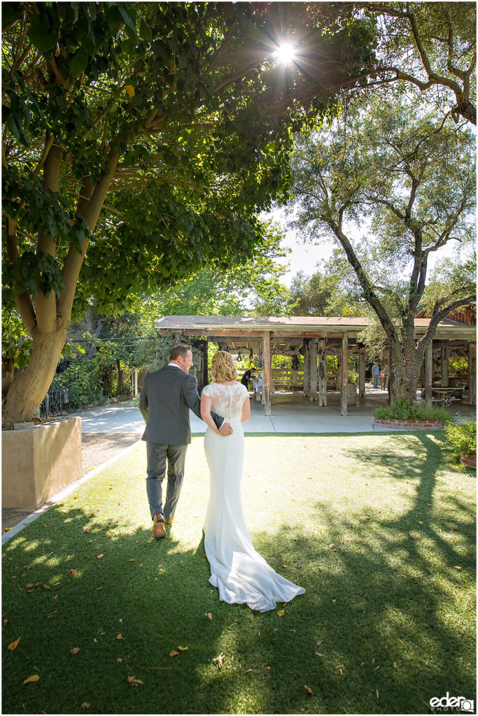 Rancho Bernardo Winery Wedding Wedding just married