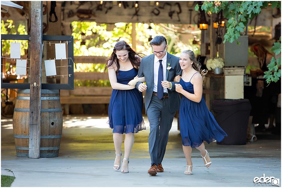 Rancho Bernardo Winery Wedding Reception grand entrance