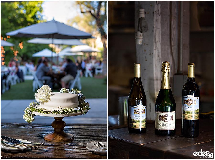 Rancho Bernardo Winery Wedding Reception wedding cake