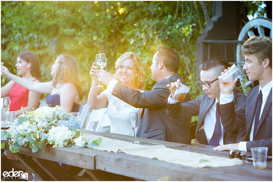 Rancho Bernardo Winery Wedding Reception toasts