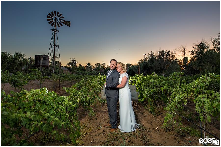 Rancho Bernardo Winery Wedding Sunset Portraits