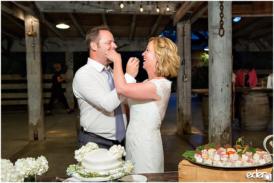 Rancho Bernardo Winery Wedding cake cutting
