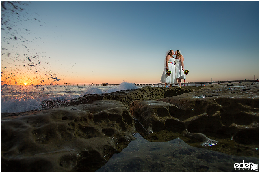 Beach Rainbow Wedding – San Diego, CA