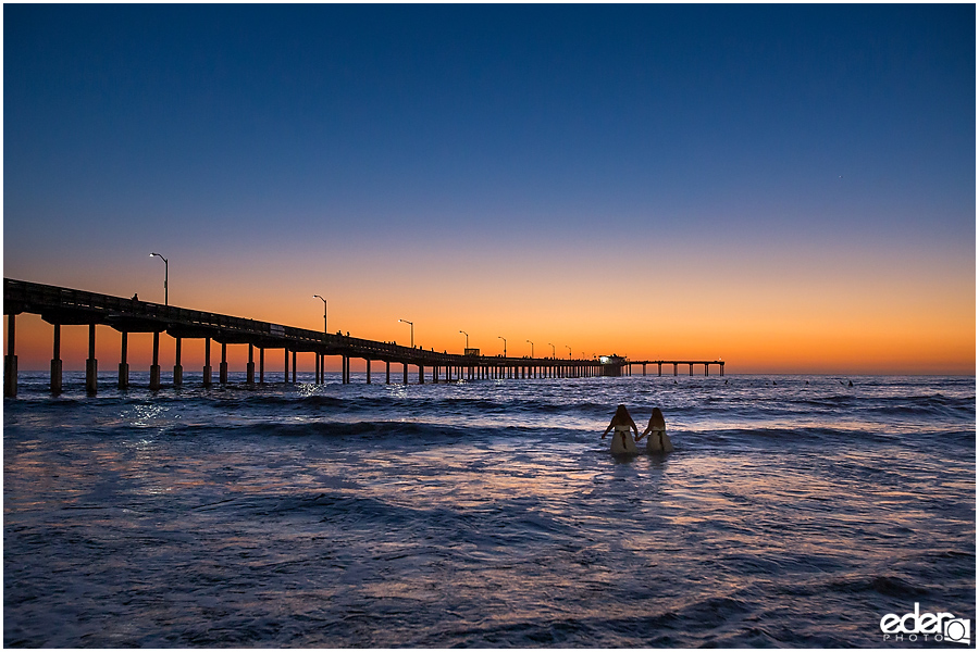 Sunset trash the dress session in San Diego, CA