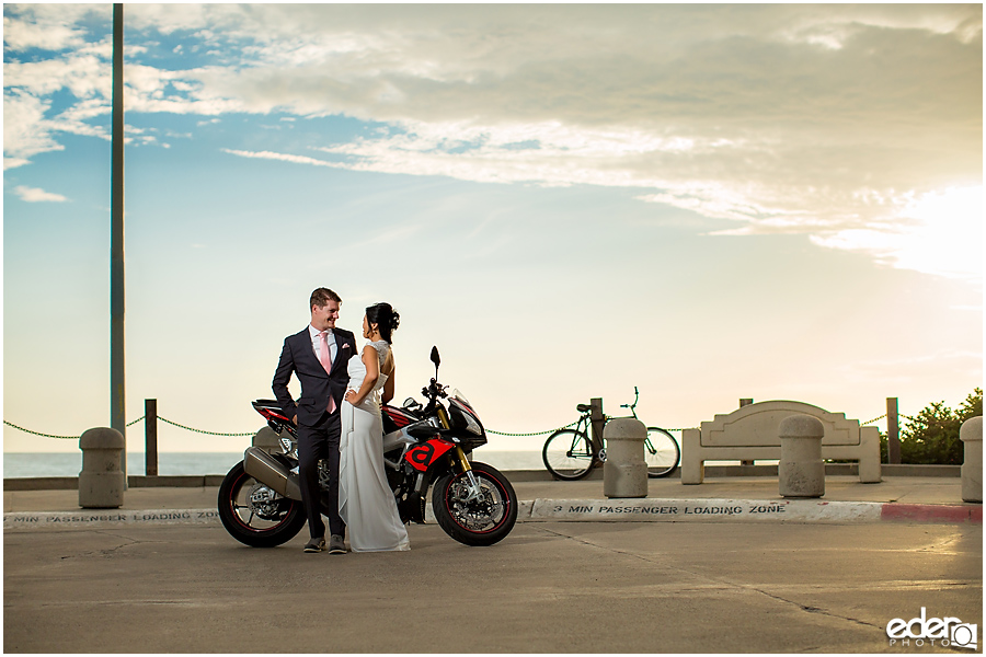 Motorcycle wedding photos in San DIego, CA.