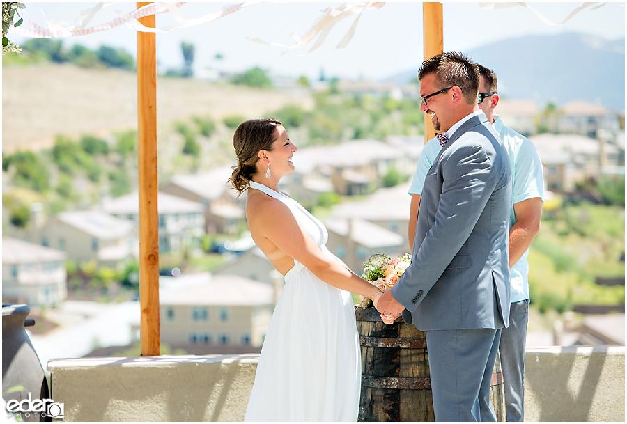 Pool wedding ceremony.