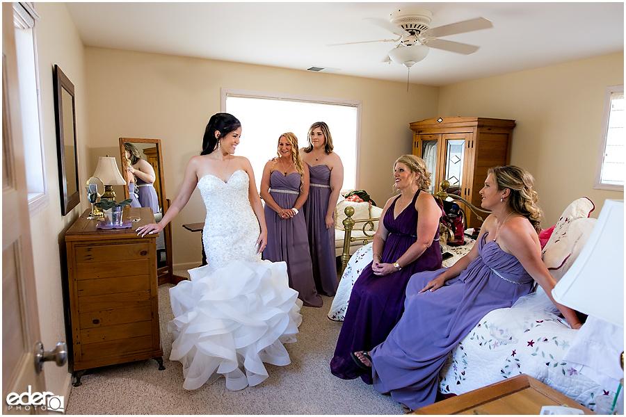 Vineyard Wedding bride getting ready