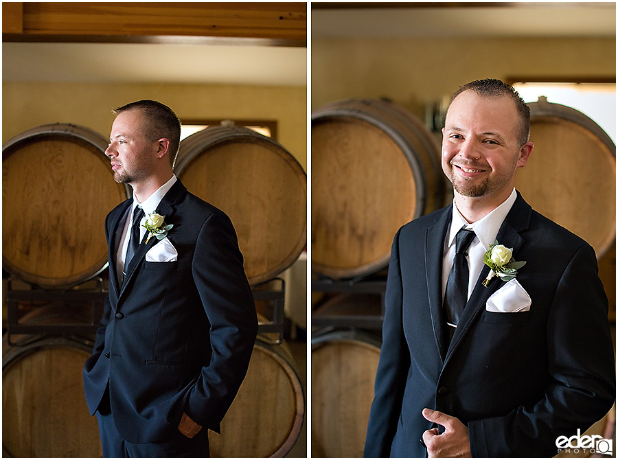 Vineyard Wedding groom portraits