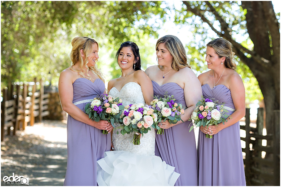 Vineyard Wedding bridesmaid portraits.