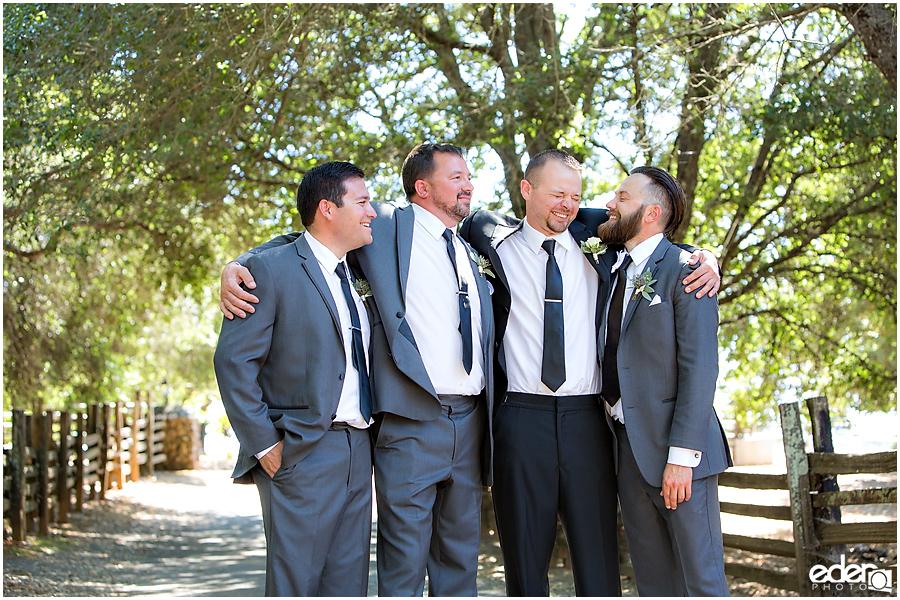 Vineyard Wedding groomsmen portraits.