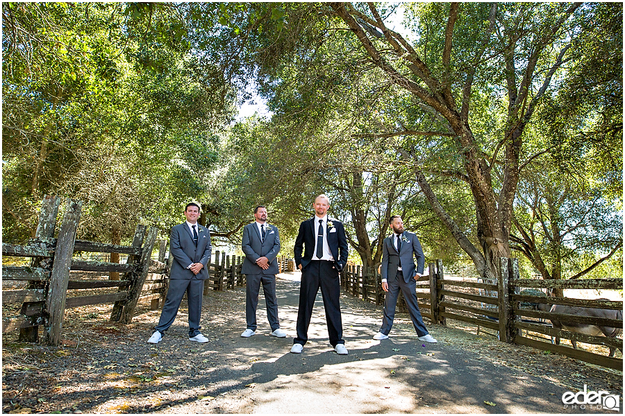 Vineyard Wedding groomsmen portraits.