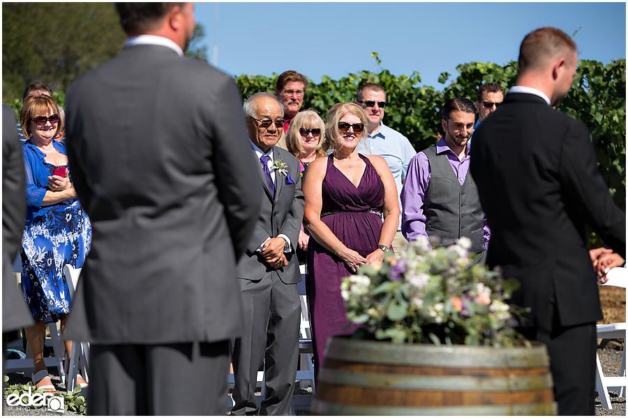 Vineyard Wedding Ceremony.
