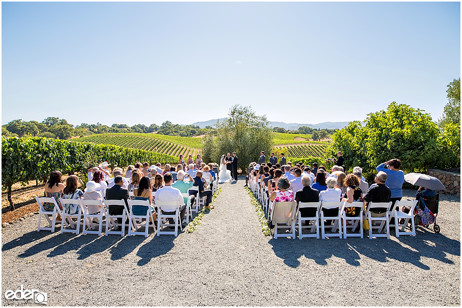 Vineyard Wedding Ceremony.