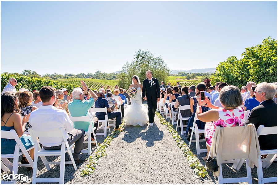 Vineyard Wedding Ceremony recessional