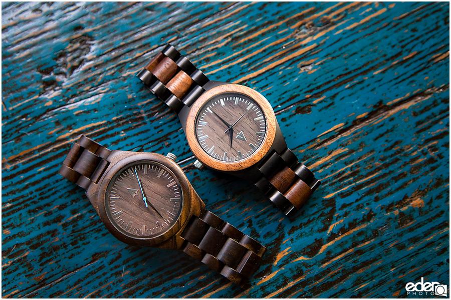 Laguna Beach Wedding - matching watches.
