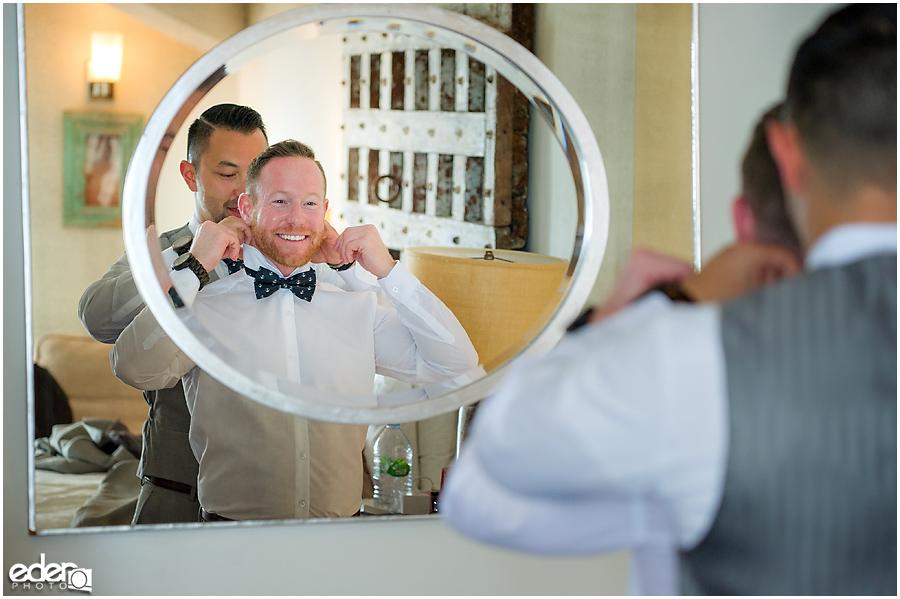 Laguna Beach Wedding - grooms getting ready