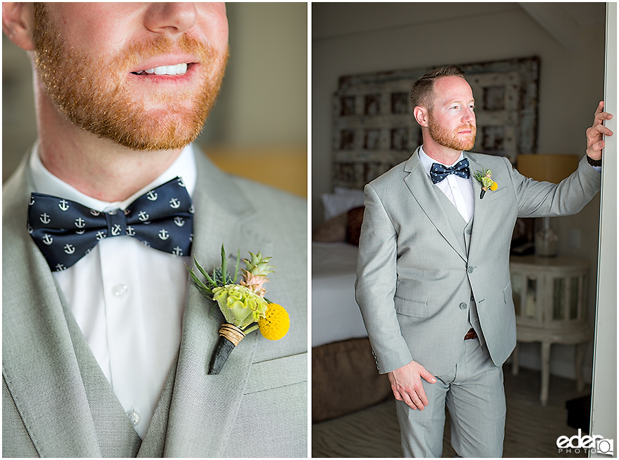 Laguna Beach Wedding - groom getting ready portraits
