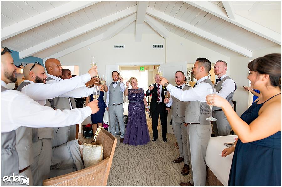 Laguna Beach Wedding - toasts before wedding